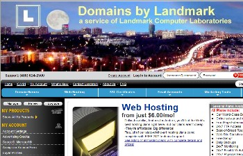 Domains by Landmark Web site