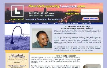 Remote Support by Landmark Web site